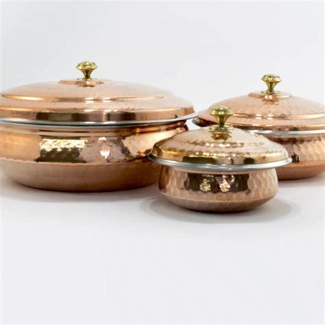 indian hammered copper hyderabadi handi  lid ancient cookware