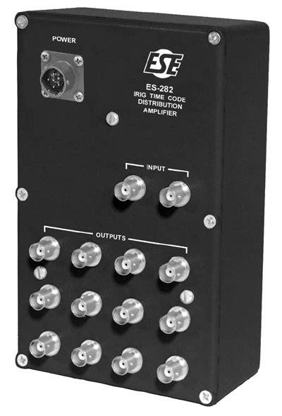 ES-282 Portable 1 X 12 IRIG Distribution Amplifier
