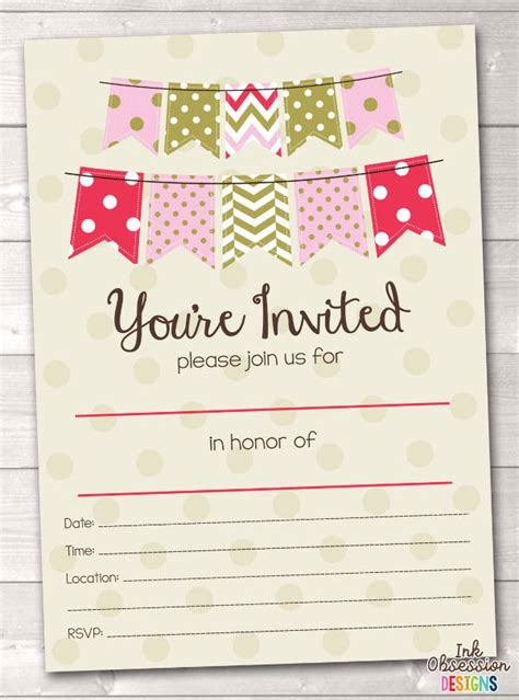 blank party invitations  editable psd ai vector