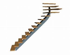 Escalier 1 4 Tournant Gauche : r alisation escalier limon central acier 1 4 tournant haut ~ Dode.kayakingforconservation.com Idées de Décoration