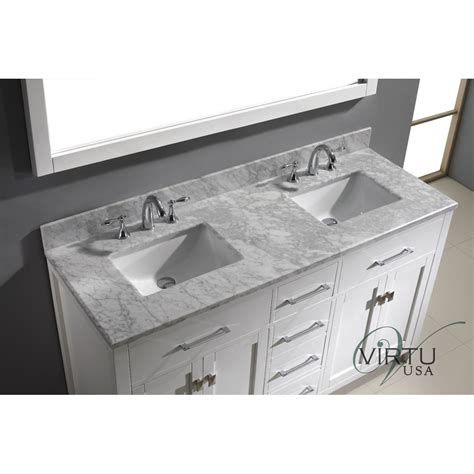 2 sink bathroom vanity virtu usa md 2060 wmsq caroline 60 double square sinks