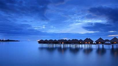Calm Desktop Beach Sea Malaysia Houses