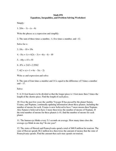 problem solving math worksheets analyze proportional
