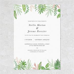 greenery wedding invitations by studio sophie With greenery wedding invitations free