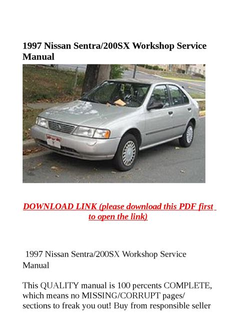 free car repair manuals 1997 nissan 200sx navigation system 1997 nissan sentra 200sx workshop service manual by sally mool issuu