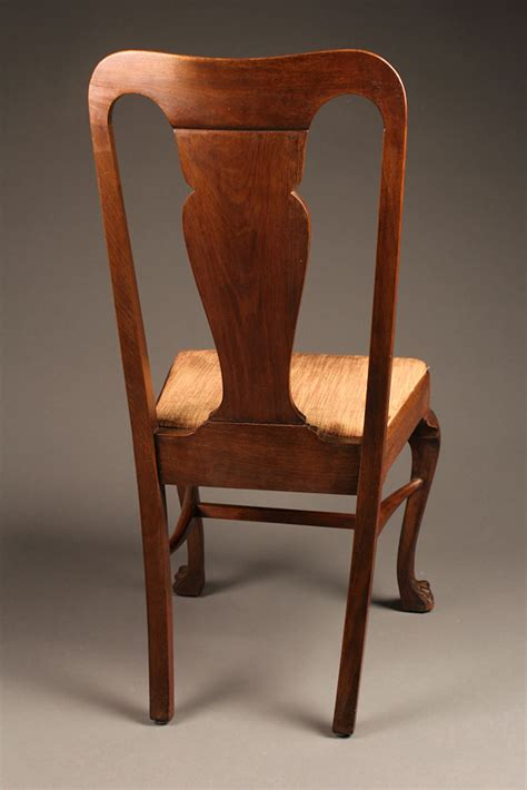 set of 8 antique mahogany chairs with claw