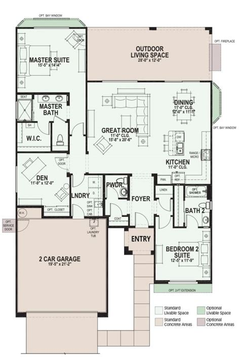 dolce saddlebrooke ranch arizona  community floorplan floor plans small house floor