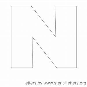 uppercase n With 12 letter stencils