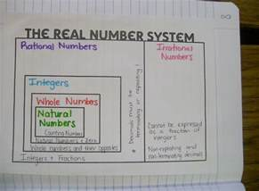 Real Number System Foldable
