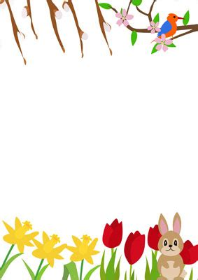 early learning resources spring notepaper  early