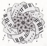 Dare Studio Zendala Ml Coloring Mandala Pages Notes Tattoo Piano Drawings Musical Drawing Adults Cool Zentangle Designs Flower Keys Keyboard sketch template