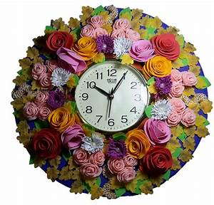 Floral, Design, Wall, Clock