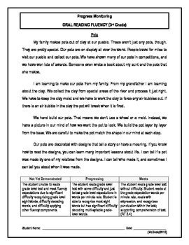 3 reading fluency passage 3rd grade by