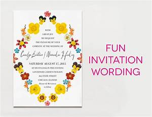15 wedding invitation wording samples from traditional to fun With wedding invitation text fun