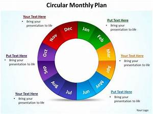 Circular Monthly Plan Powerpoint Diagram Templates