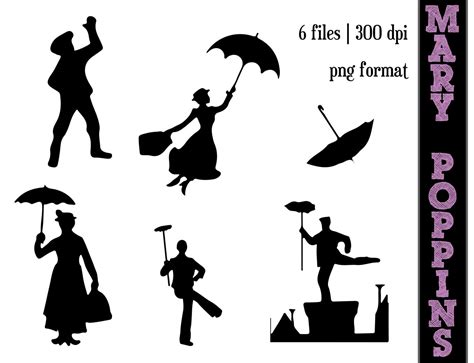 Poppins Clipart Poppins Silhouette Clip And