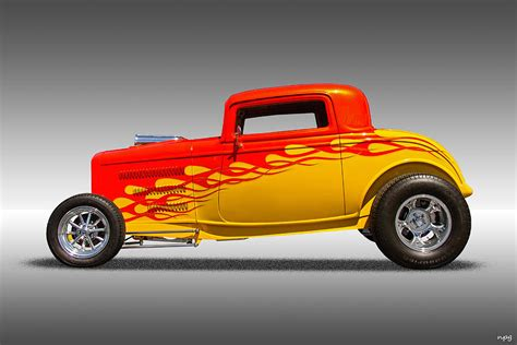 Hot Rod Flames Photograph by Nick Gray