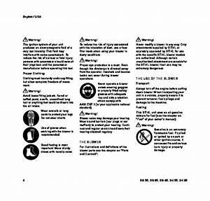 Stihl Bg 55 65 85 Sh 55 85 Blower Owners Manual