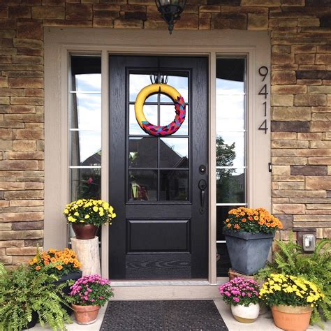 entry door with window black front door for simple and attracting applications