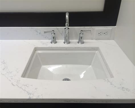quartz countertop with undermount sink 57 best bathrooms images on pinterest custom mirrors