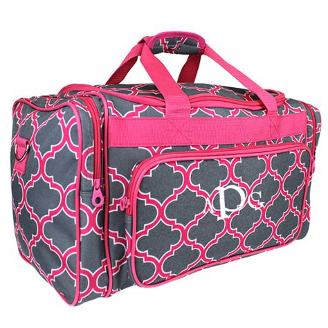 monogrammed weekend bag quatrefoil