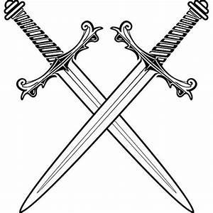 Crossed Pirate Swords Vector Crossed swords vector.eps ...