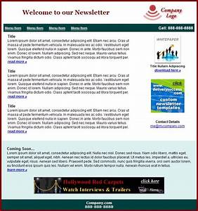Free email newsletter templates for outlook for Free online newsletter templates for email