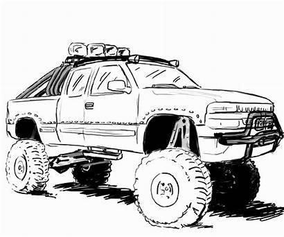 Coloring Truck Lifted Pages Chevy Trucks Pickup