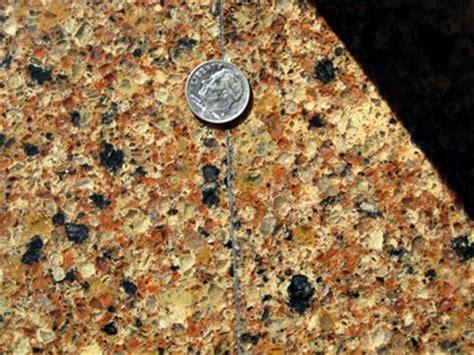 bad quartz countertop seam home interior design and