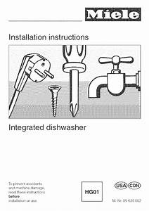 Miele Dishwasher G 663 User Guide