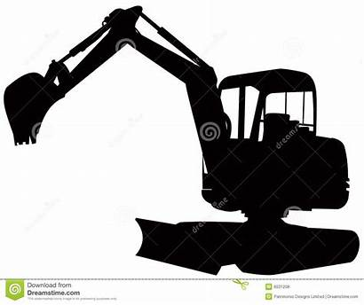 Excavator Digger Clipart Construction Vector Background Royalty