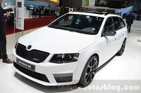 Skoda Octavia Rs 4x4 Front Three Quarter At The 2018