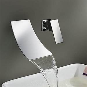 Robinet Lavabo Cascade : robinetterie murale salle de bain robinetterie ~ Edinachiropracticcenter.com Idées de Décoration