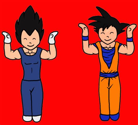 Goku Vegeta Fist Bump Yay Gif Find Share On Giphy