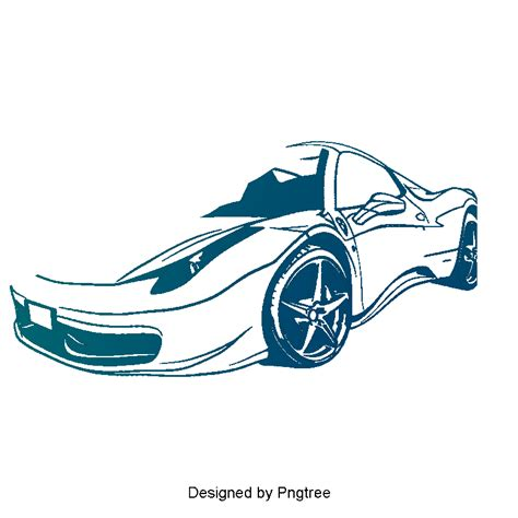 Blue Vector Car, Car Clipart, Sports Car, Cartoon Car Png