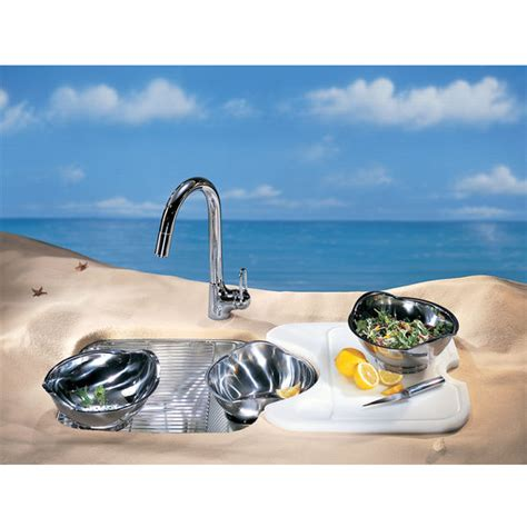 Franke Beach Stainless Steel Prep Bowl Undermount Sink