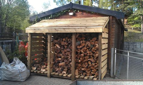 wooden log store plans  woodworking