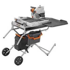 ridgid ridgid portable tile saw with laser 10 inch