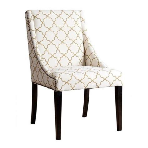 Upholstered Dining Chairs With Nailheads by Abbyson Living Teena Nailhead Upholstered Dining Chair In