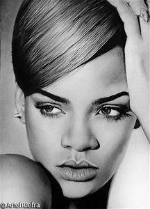 Rihanna Drawing by riefra on DeviantArt