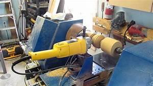 Tour à bois numérique, cnc homemade wood lathe - YouTube