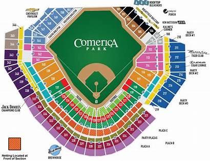 Seating Comerica Park Chart Stadium Tiger Detroit