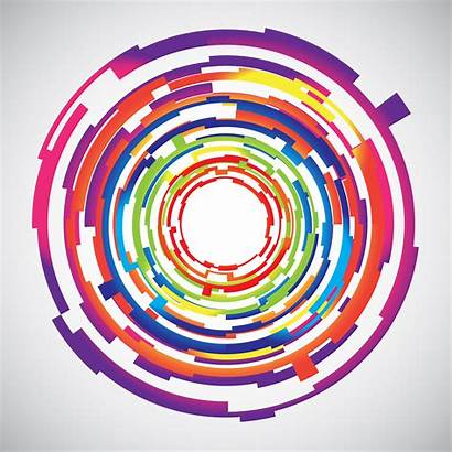 Colourful Abstract Technology Background Circles Vector Clipart