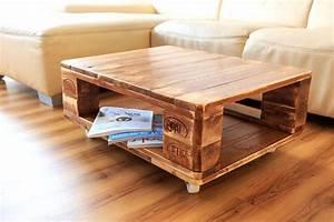 Couchtisch aus europaletten selber bauen ideen for Tisch aus paletten bauen