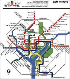 Washington DC Metro Map with Attractions