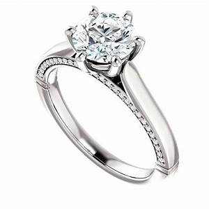 7mm forever one moissanite diamond engagement ring 14k With cyber monday deals on wedding rings