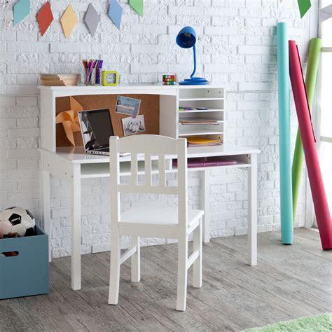 Guidecraft Desk by Guidecraft Media Desk Chair Set White Desks At