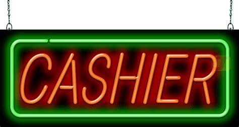 cashier neon sign gs   jantec neon