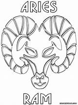 Zodiac Coloring Pages Signs Colorings sketch template
