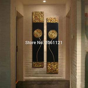 Aliexpress buy hand painted modern abstract gold